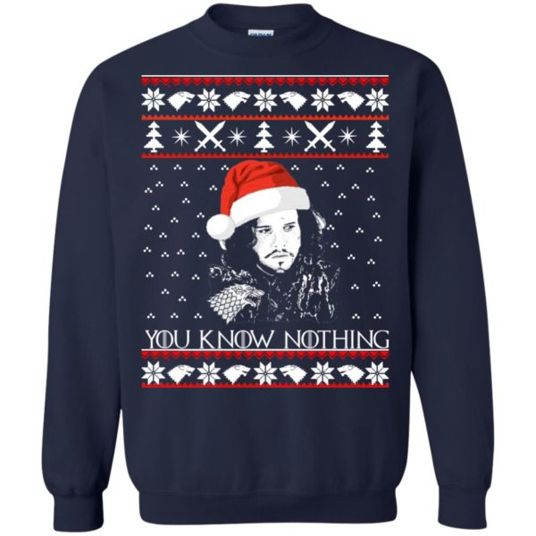 image 773 600x600 - Jon Snow: You Know Nothing Ugly Christmas Sweater, long sleeve
