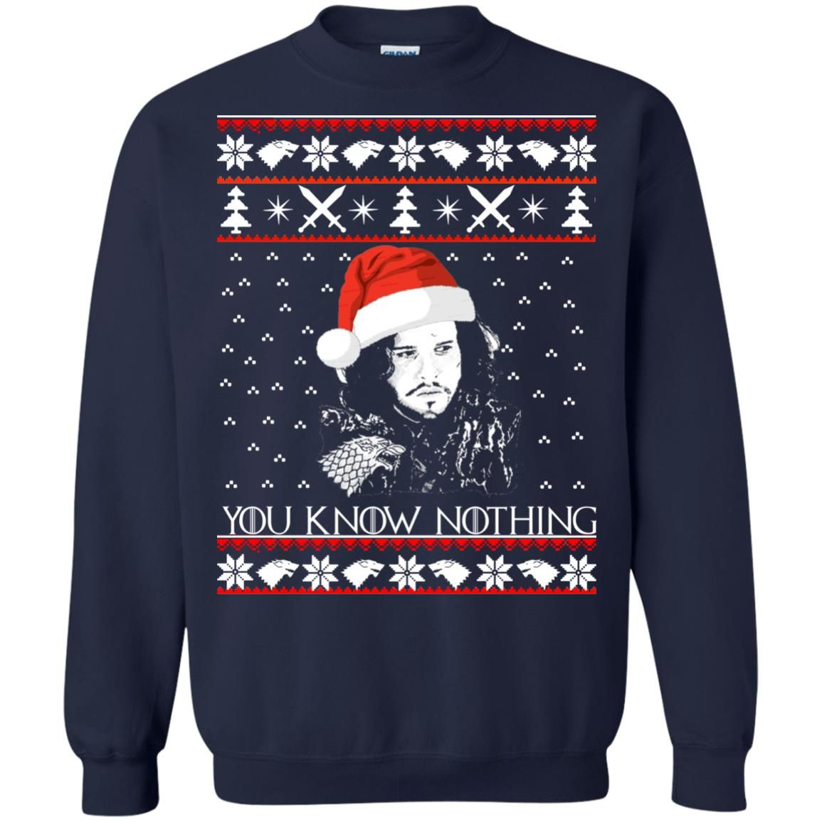 image 773 - Jon Snow: You Know Nothing Ugly Christmas Sweater, long sleeve