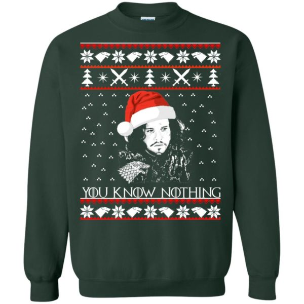 image 775 600x600 - Jon Snow: You Know Nothing Ugly Christmas Sweater, long sleeve