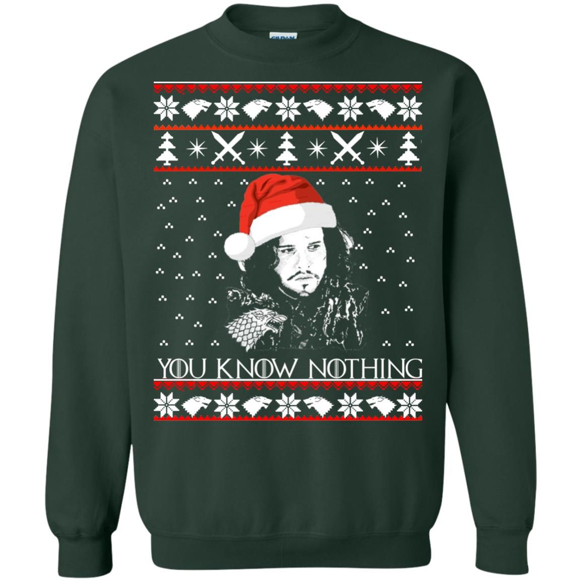 image 775 - Jon Snow: You Know Nothing Ugly Christmas Sweater, long sleeve
