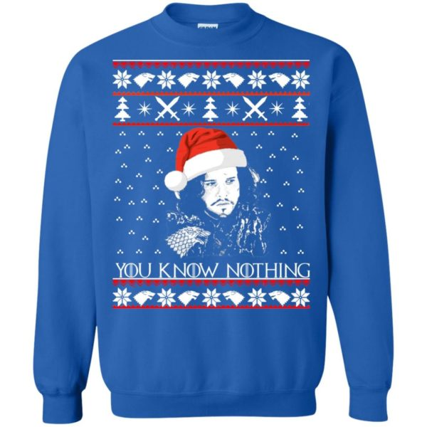 image 776 600x600 - Jon Snow: You Know Nothing Ugly Christmas Sweater, long sleeve