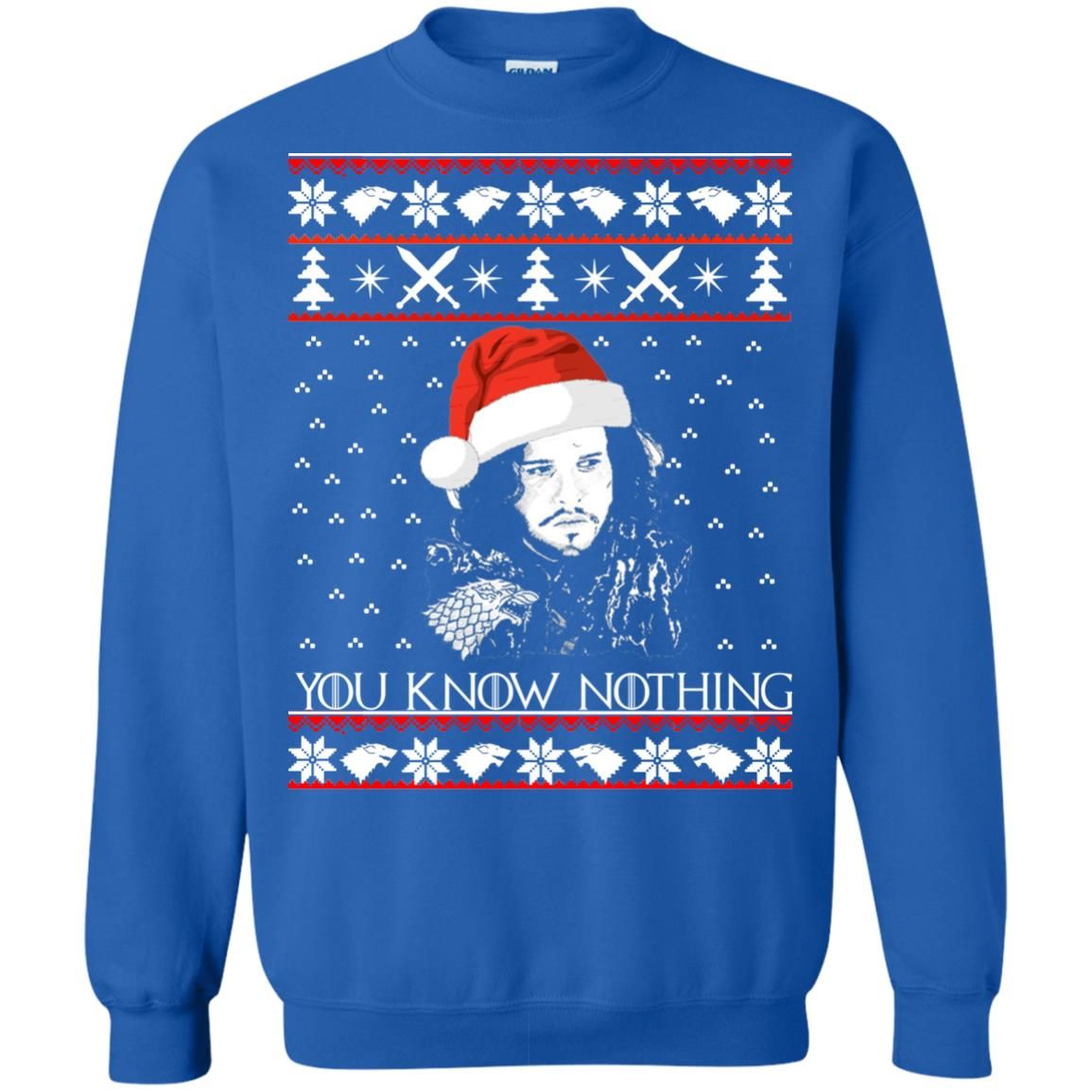 jon snow you know nothing ugly christmas sweater long sleeve