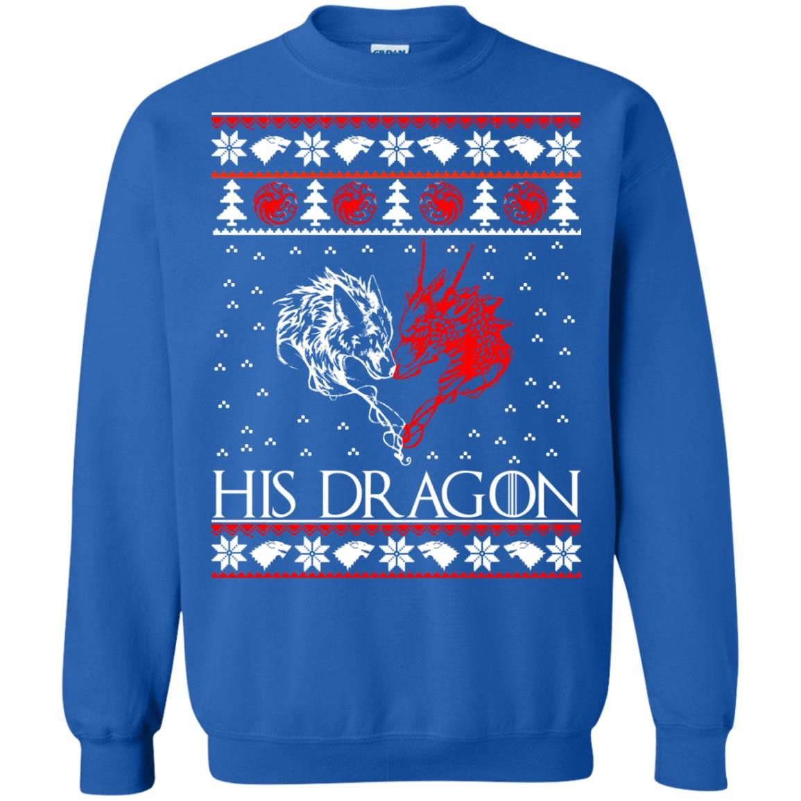 image 788 - Game of Thrones: His Dragon Ugly Christmas Sweatshirt, Hoodie