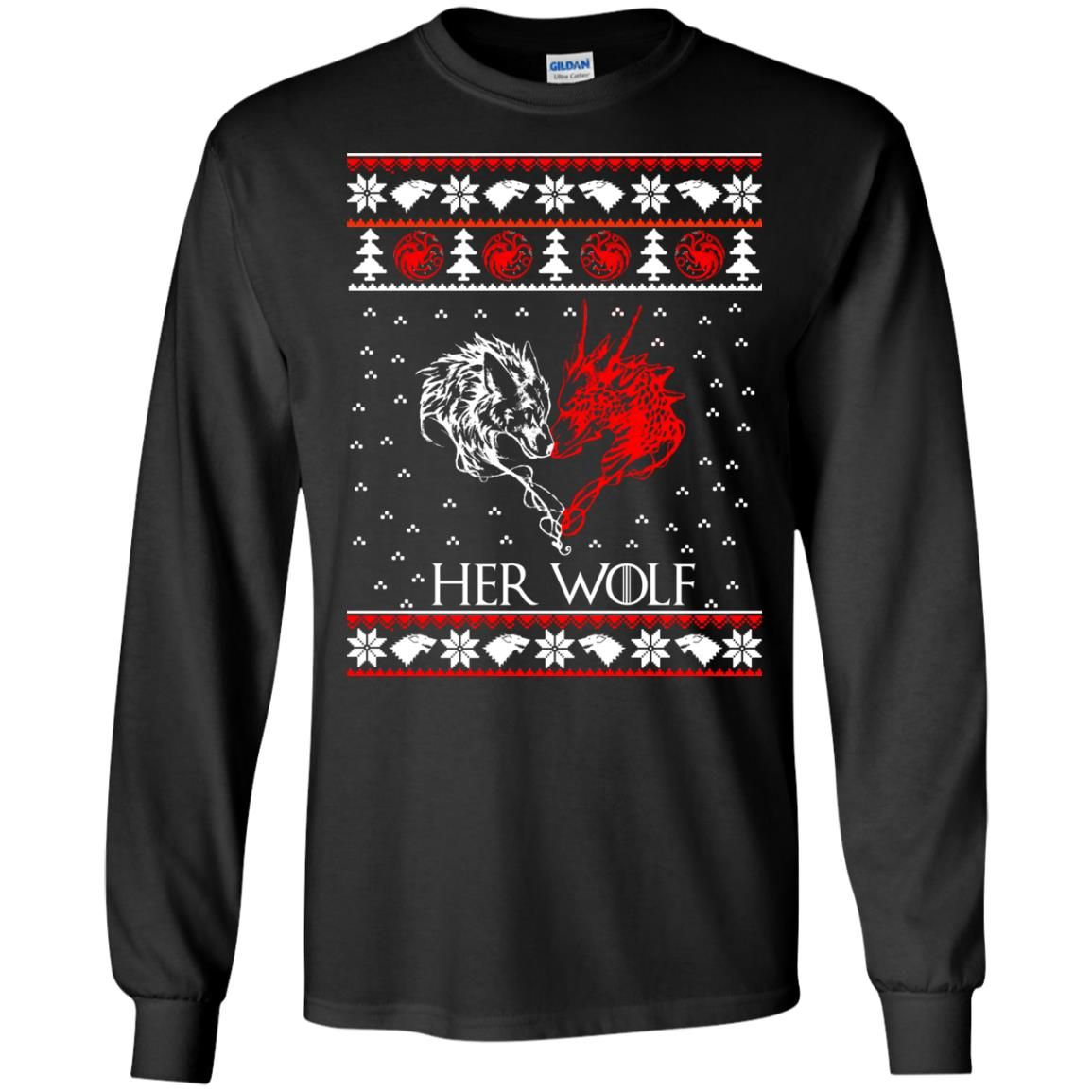 image 792 - Game of Thrones: Her Wolf Ugly Christmas Sweater, hoodie, shirt