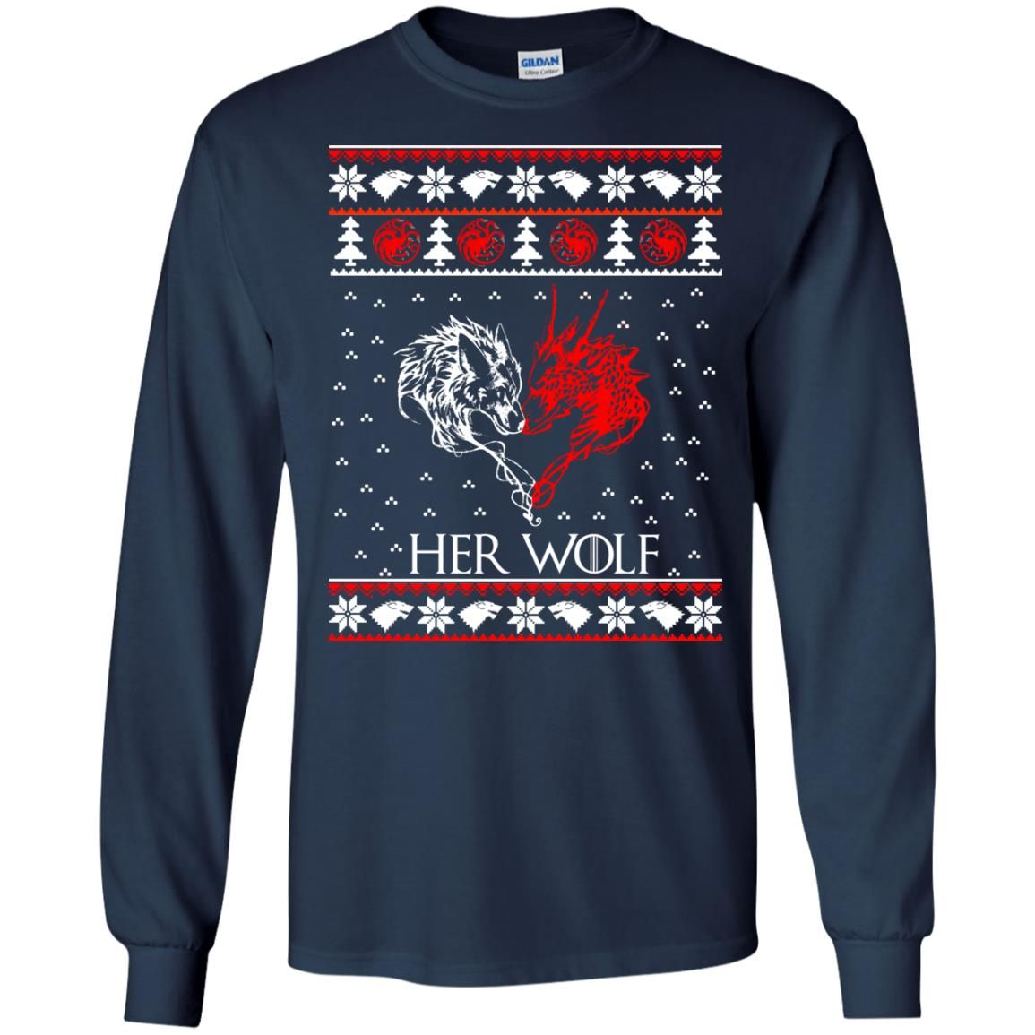 image 793 - Game of Thrones: Her Wolf Ugly Christmas Sweater, hoodie, shirt