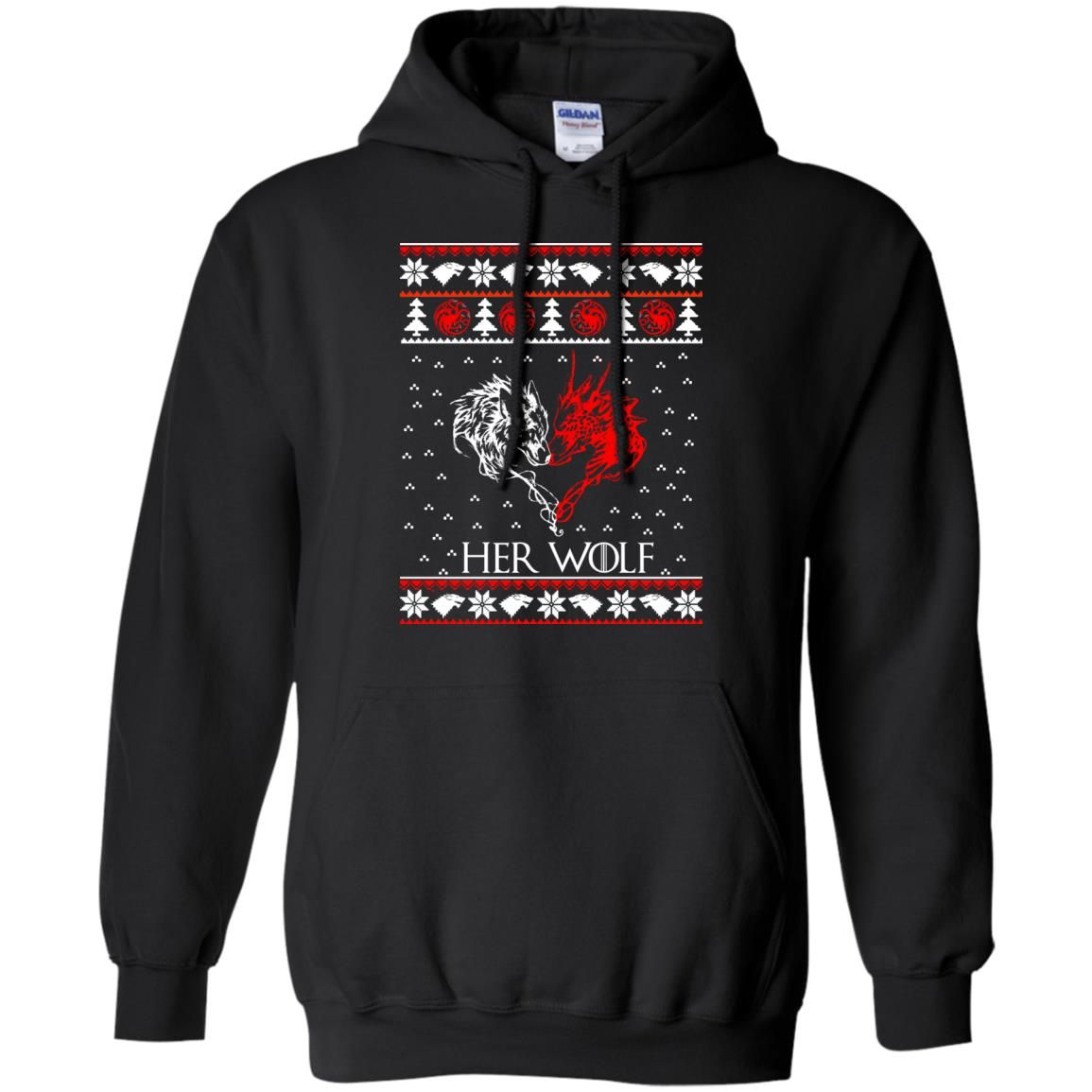 image 794 - Game of Thrones: Her Wolf Ugly Christmas Sweater, hoodie, shirt