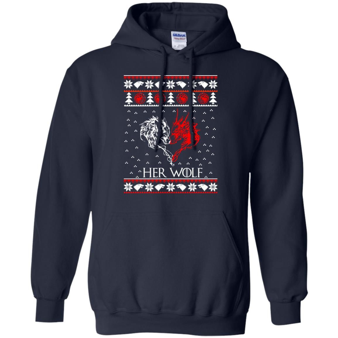 image 795 - Game of Thrones: Her Wolf Ugly Christmas Sweater, hoodie, shirt