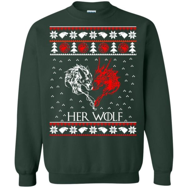image 799 600x600 - Game of Thrones: Her Wolf Ugly Christmas Sweater, hoodie, shirt