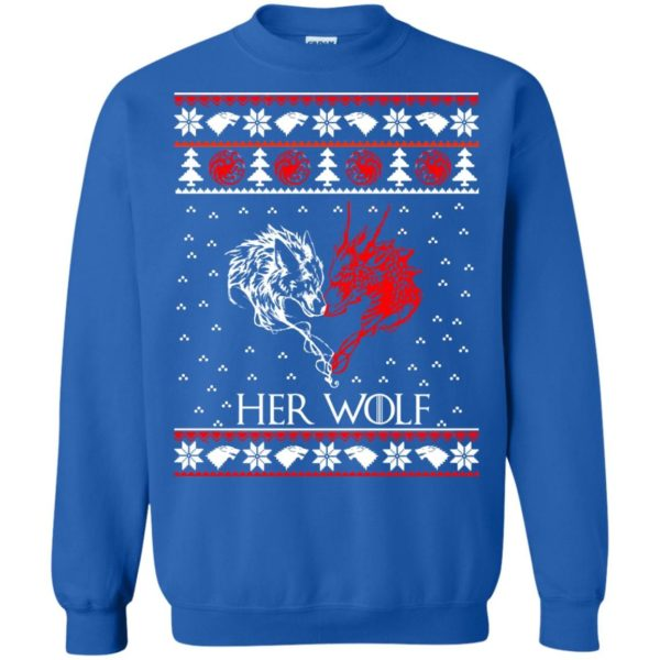 image 800 600x600 - Game of Thrones: Her Wolf Ugly Christmas Sweater, hoodie, shirt