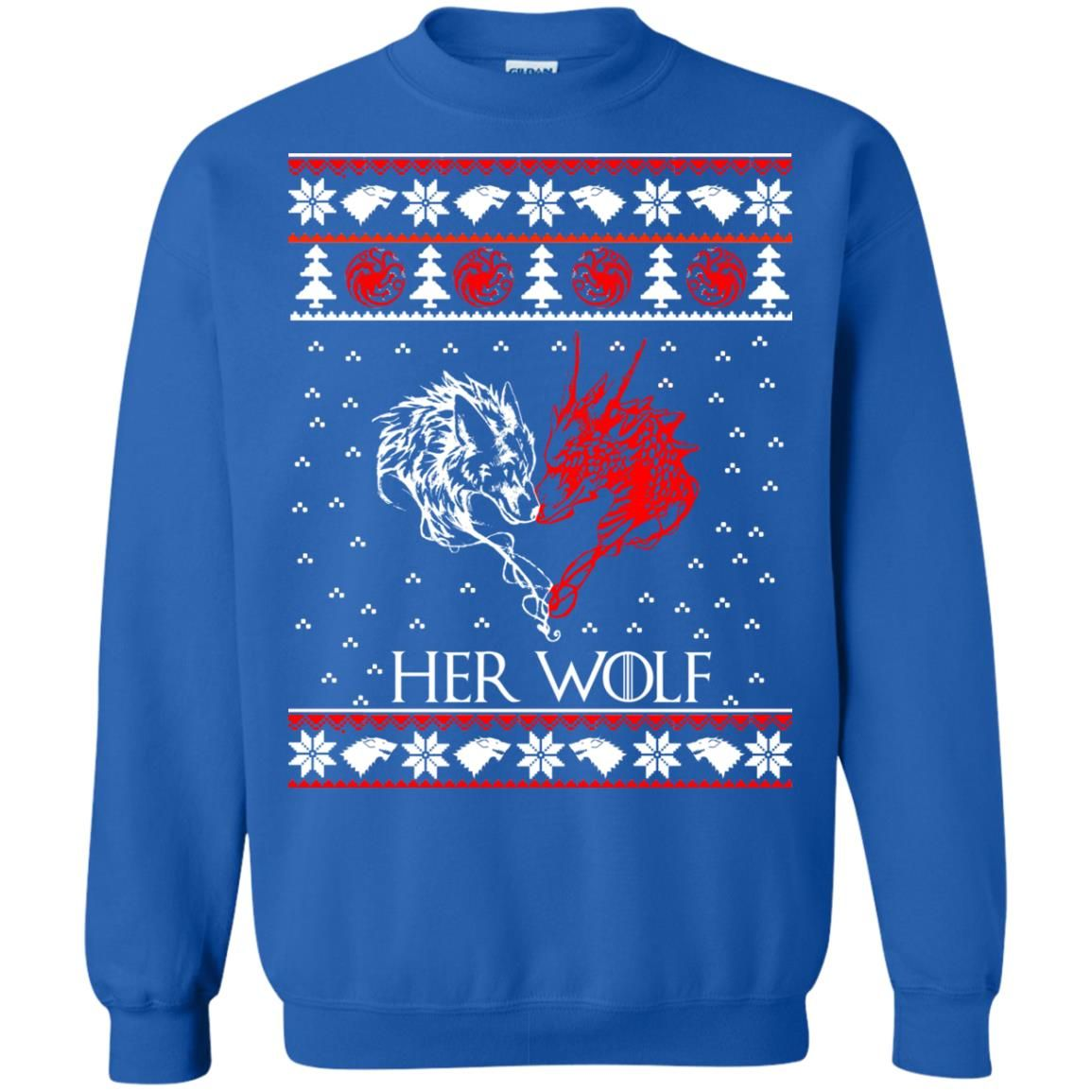 image 800 - Game of Thrones: Her Wolf Ugly Christmas Sweater, hoodie, shirt