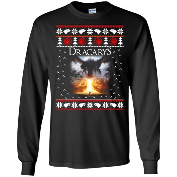 image 816 600x600 - Game of Thrones: Dracarys ugly Christmas sweater, hoodie, long sleeve