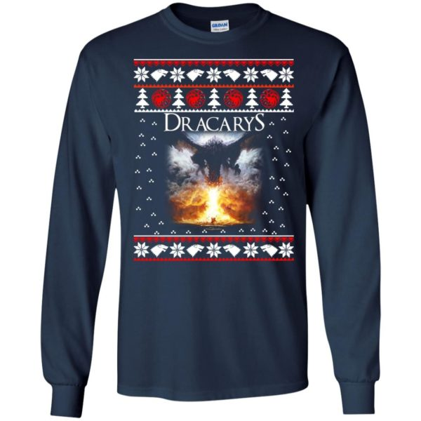 image 817 600x600 - Game of Thrones: Dracarys ugly Christmas sweater, hoodie, long sleeve