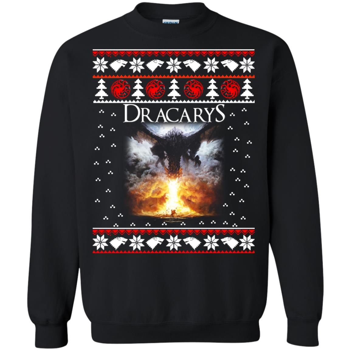 image 820 - Game of Thrones: Dracarys ugly Christmas sweater, hoodie, long sleeve