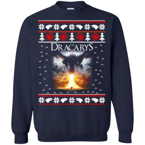 image 821 600x600 - Game of Thrones: Dracarys ugly Christmas sweater, hoodie, long sleeve