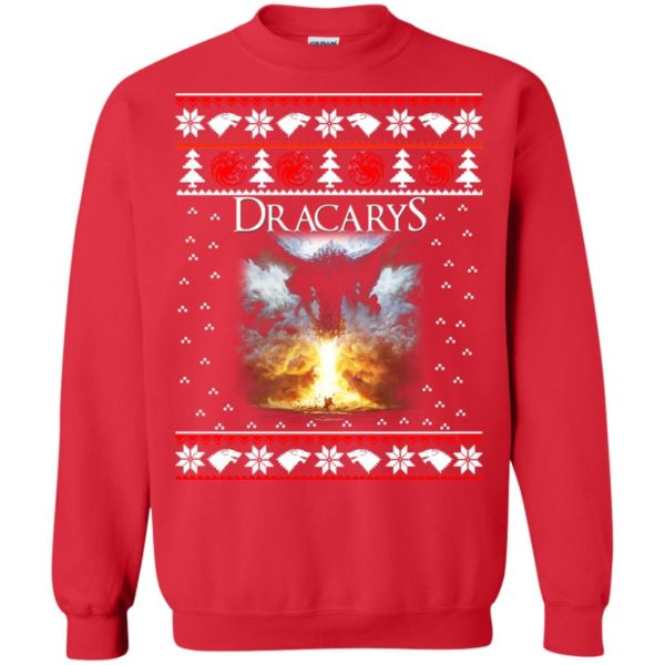 image 822 600x600 - Game of Thrones: Dracarys ugly Christmas sweater, hoodie, long sleeve
