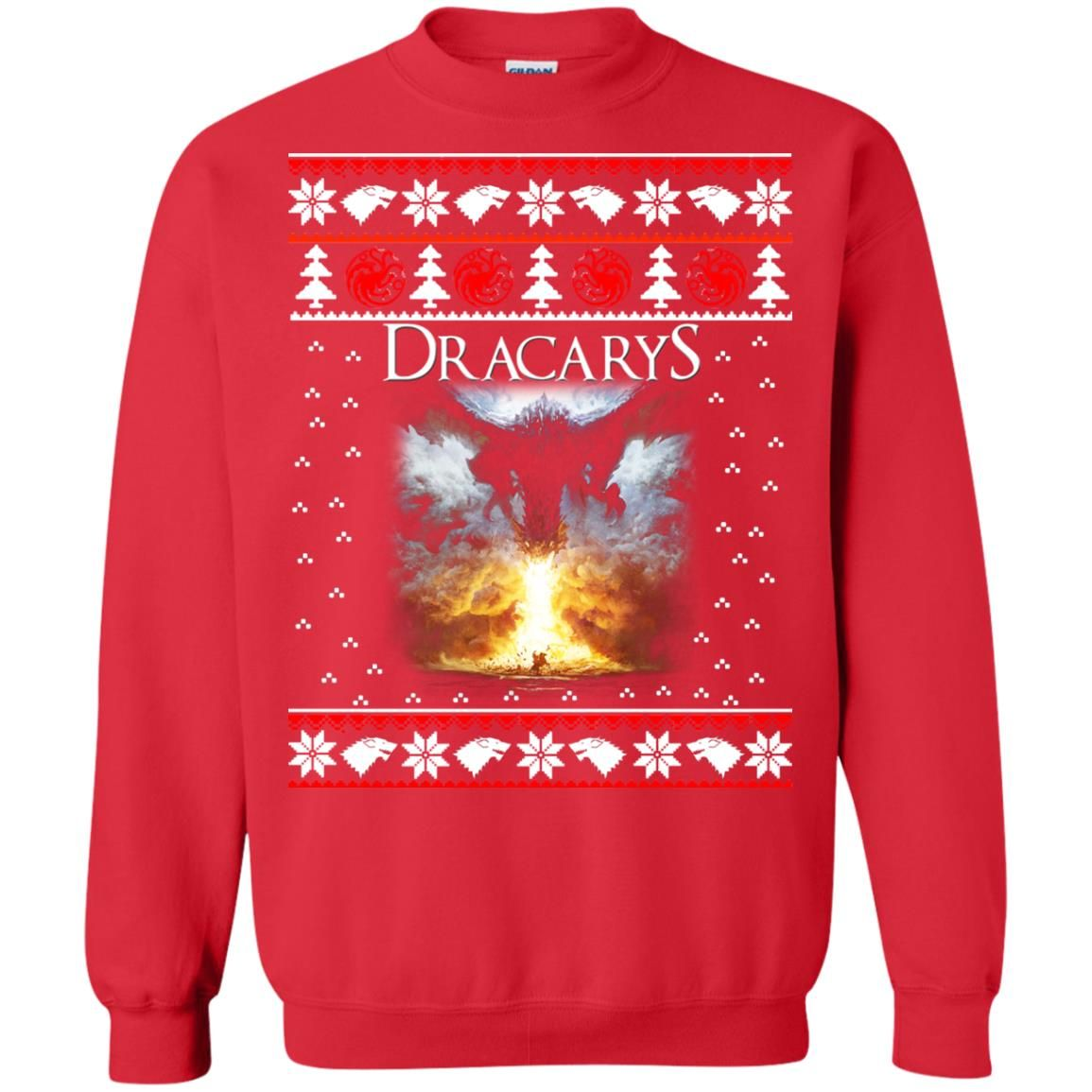 image 822 - Game of Thrones: Dracarys ugly Christmas sweater, hoodie, long sleeve