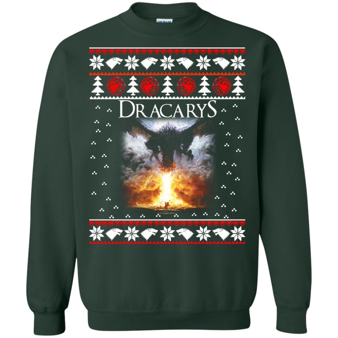 image 823 - Game of Thrones: Dracarys ugly Christmas sweater, hoodie, long sleeve