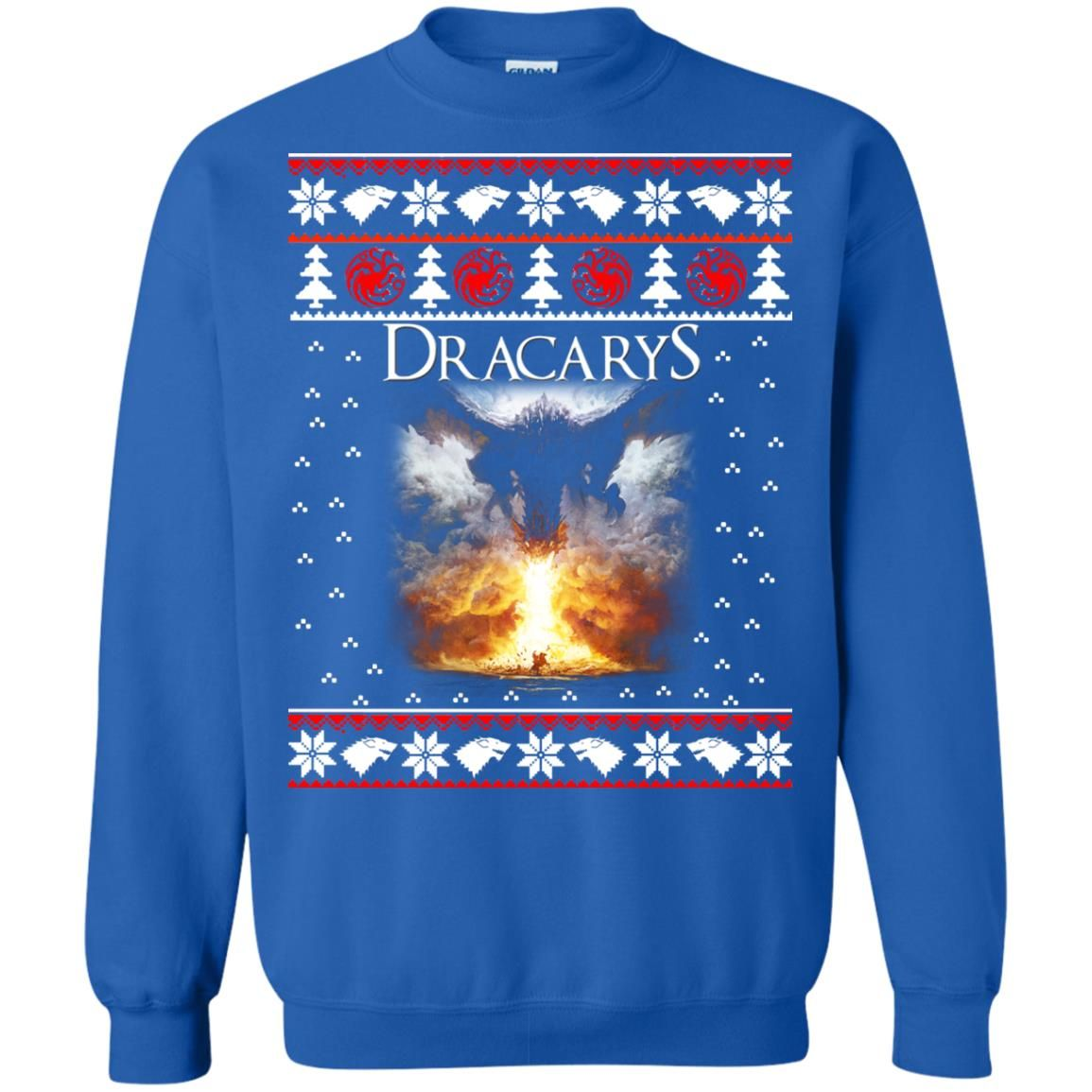 image 824 - Game of Thrones: Dracarys ugly Christmas sweater, hoodie, long sleeve