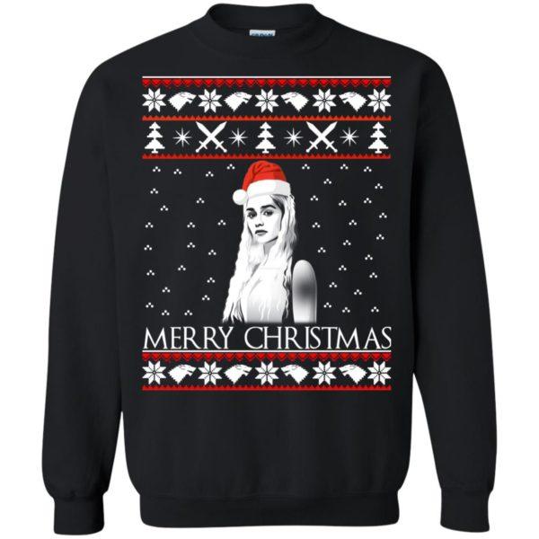 image 844 600x600 - Daenerys Targaryen: Merry Christmas ugly Sweatshirt, hoodie