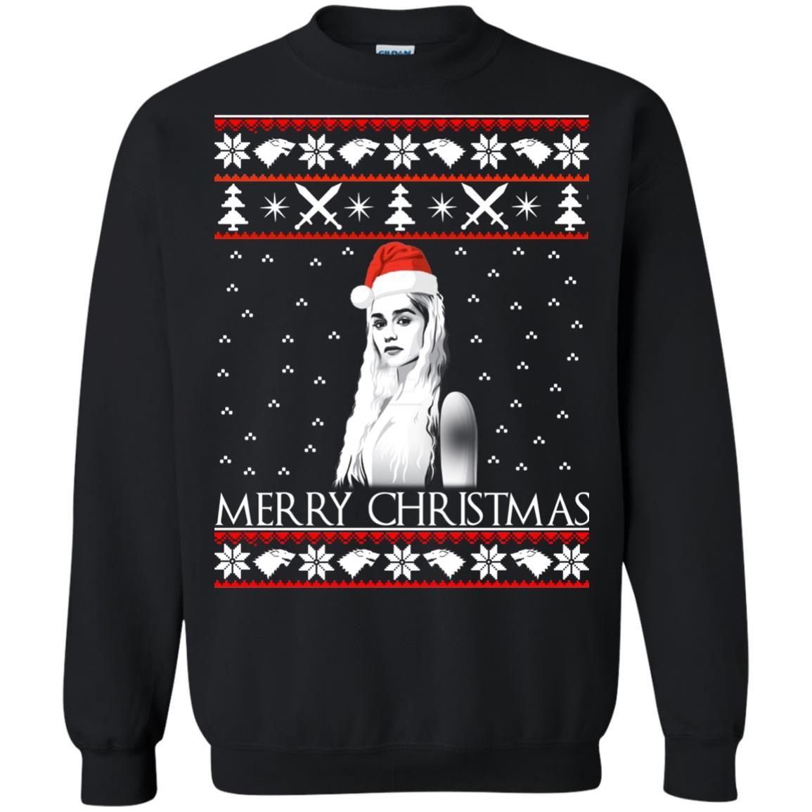 image 844 - Daenerys Targaryen: Merry Christmas ugly Sweatshirt, hoodie