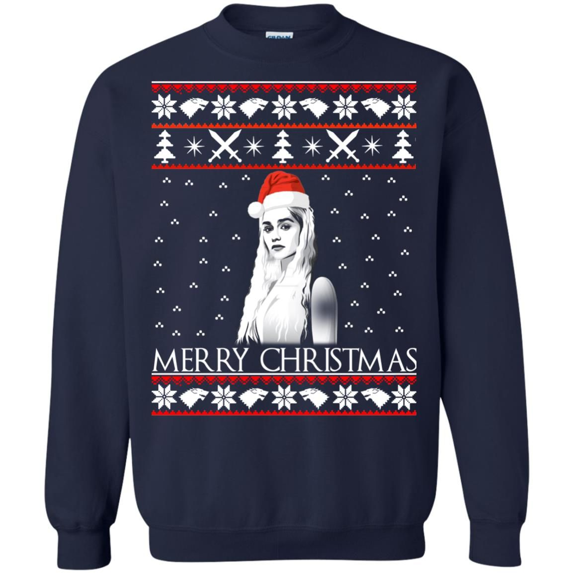 image 845 - Daenerys Targaryen: Merry Christmas ugly Sweatshirt, hoodie