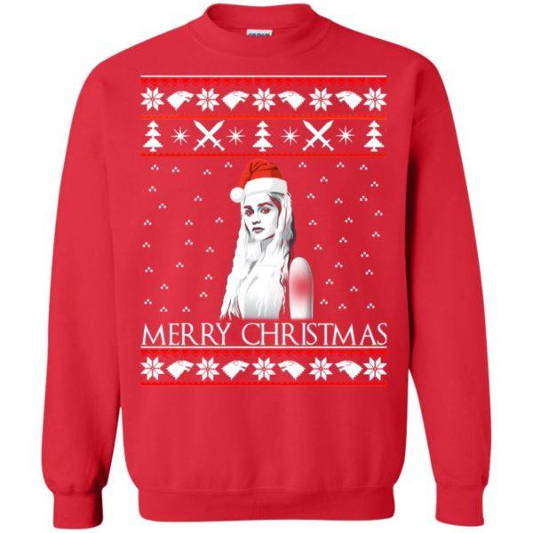image 846 600x600 - Daenerys Targaryen: Merry Christmas ugly Sweatshirt, hoodie