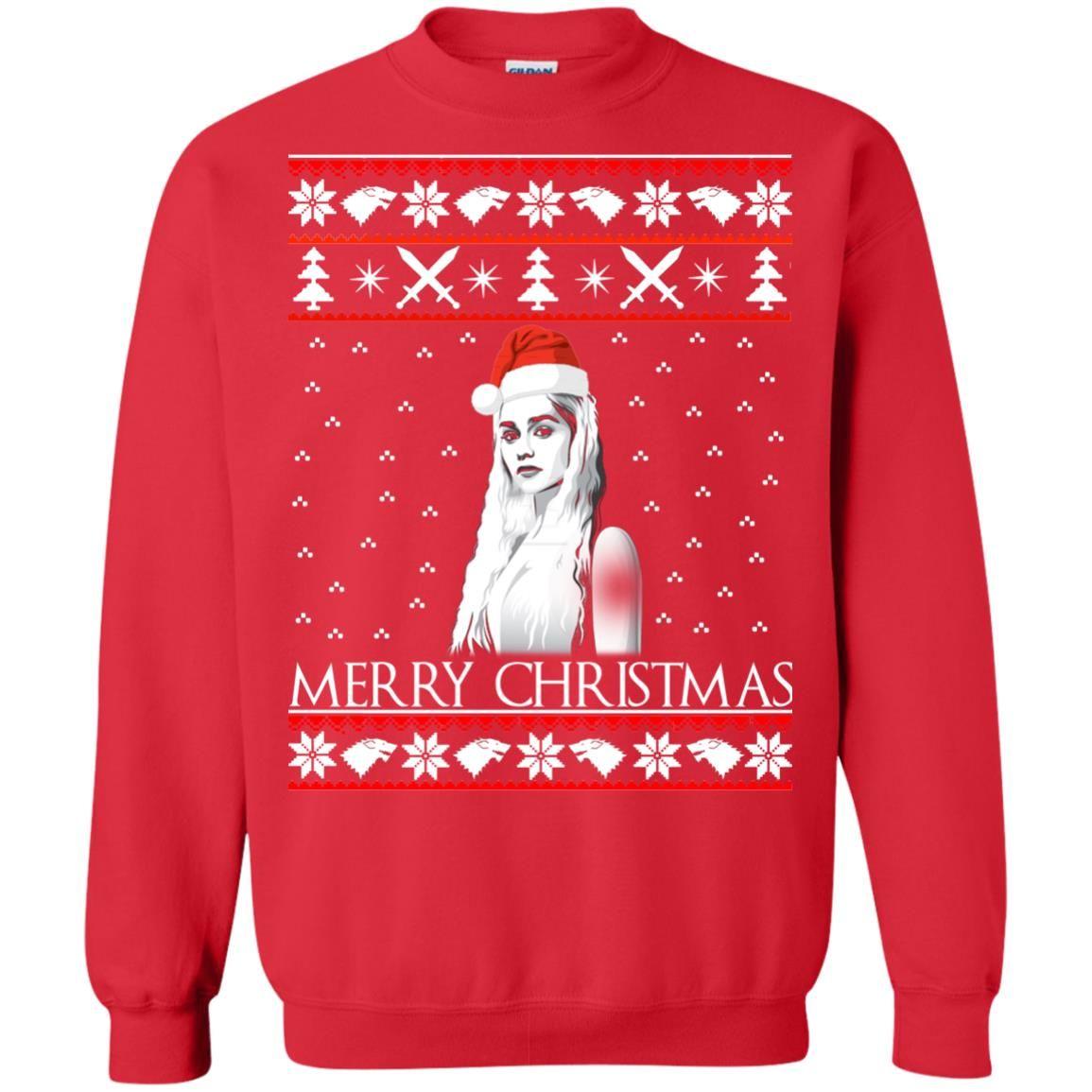 image 846 - Daenerys Targaryen: Merry Christmas ugly Sweatshirt, hoodie