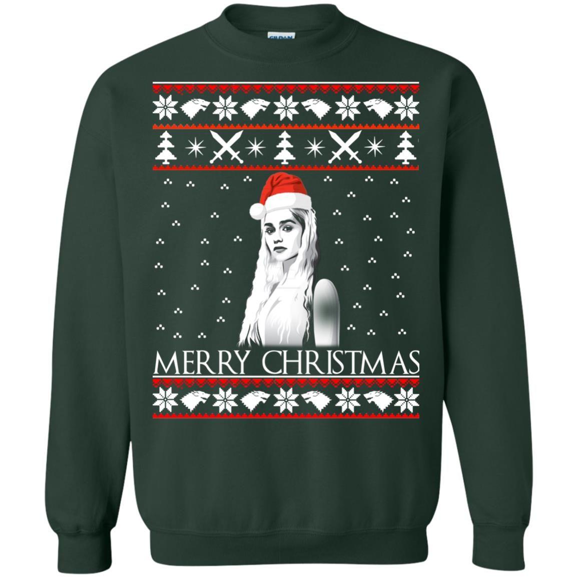 image 847 - Daenerys Targaryen: Merry Christmas ugly Sweatshirt, hoodie