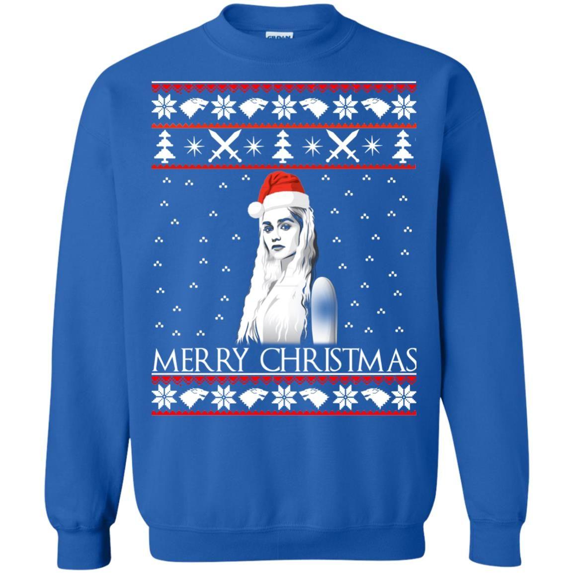 image 848 - Daenerys Targaryen: Merry Christmas ugly Sweatshirt, hoodie