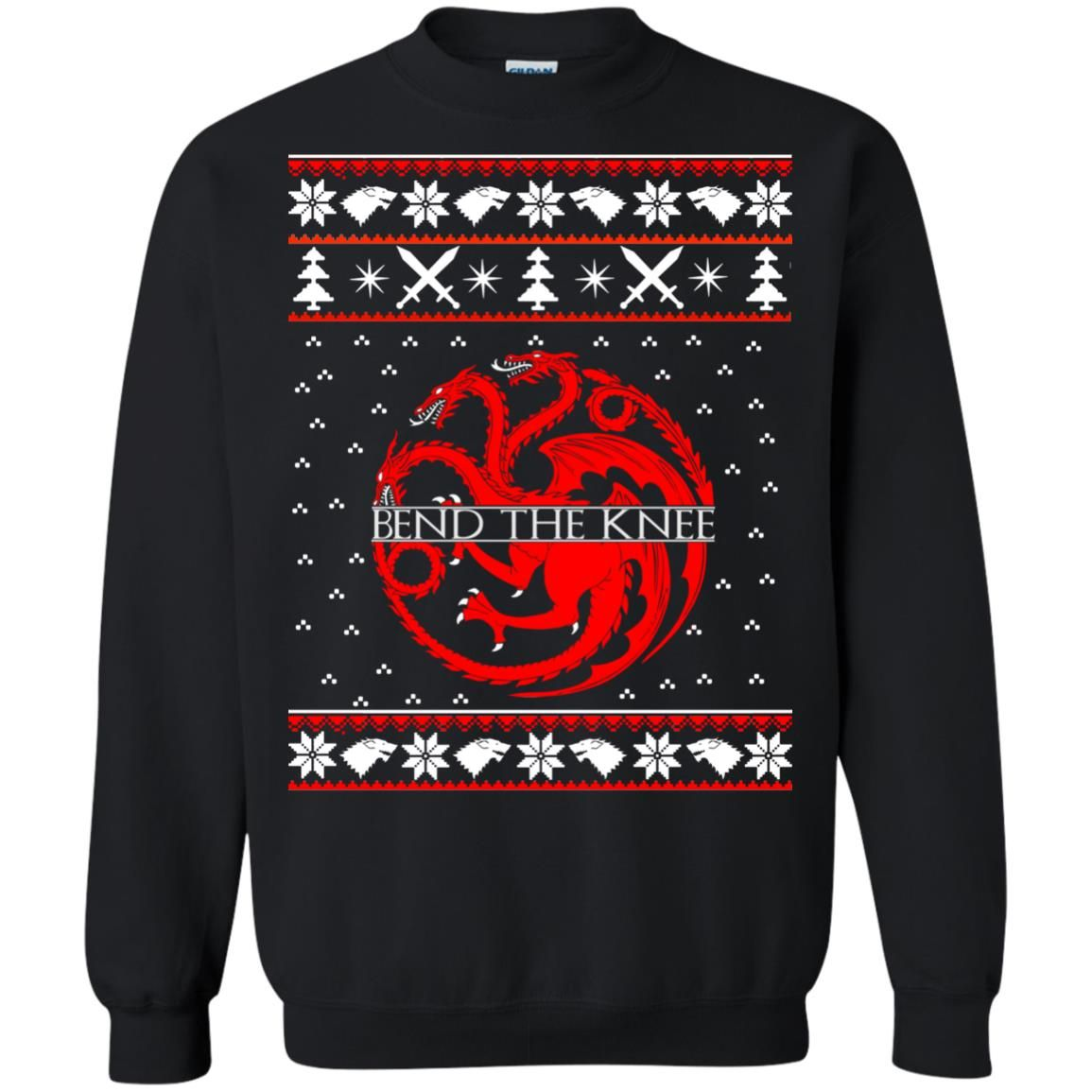 image 868 - Game of Thrones Bend the knee Christmas sweater, long sleeve