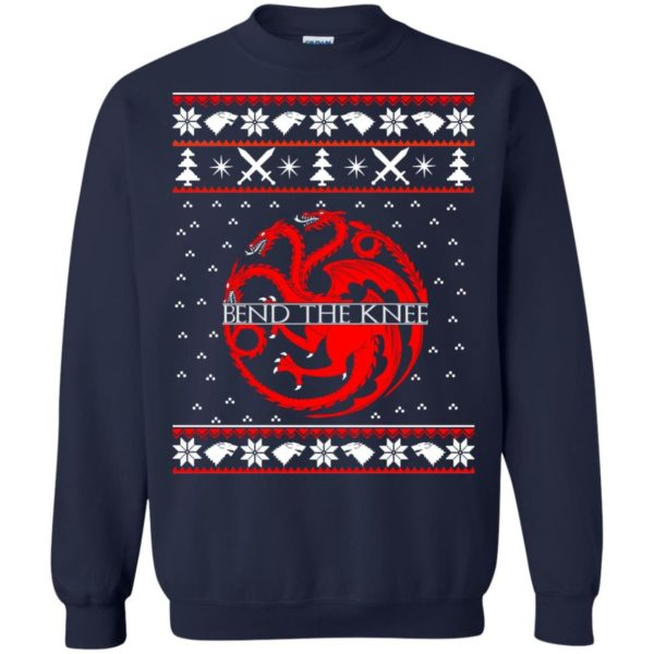 image 869 600x600 - Game of Thrones Bend the knee Christmas sweater, long sleeve