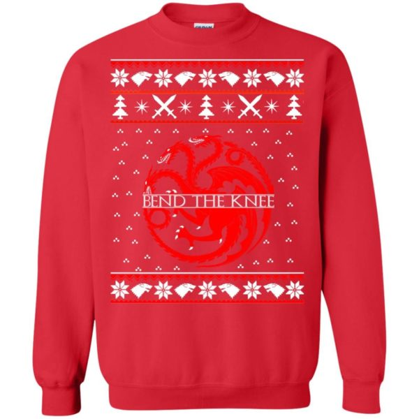 image 870 600x600 - Game of Thrones Bend the knee Christmas sweater, long sleeve