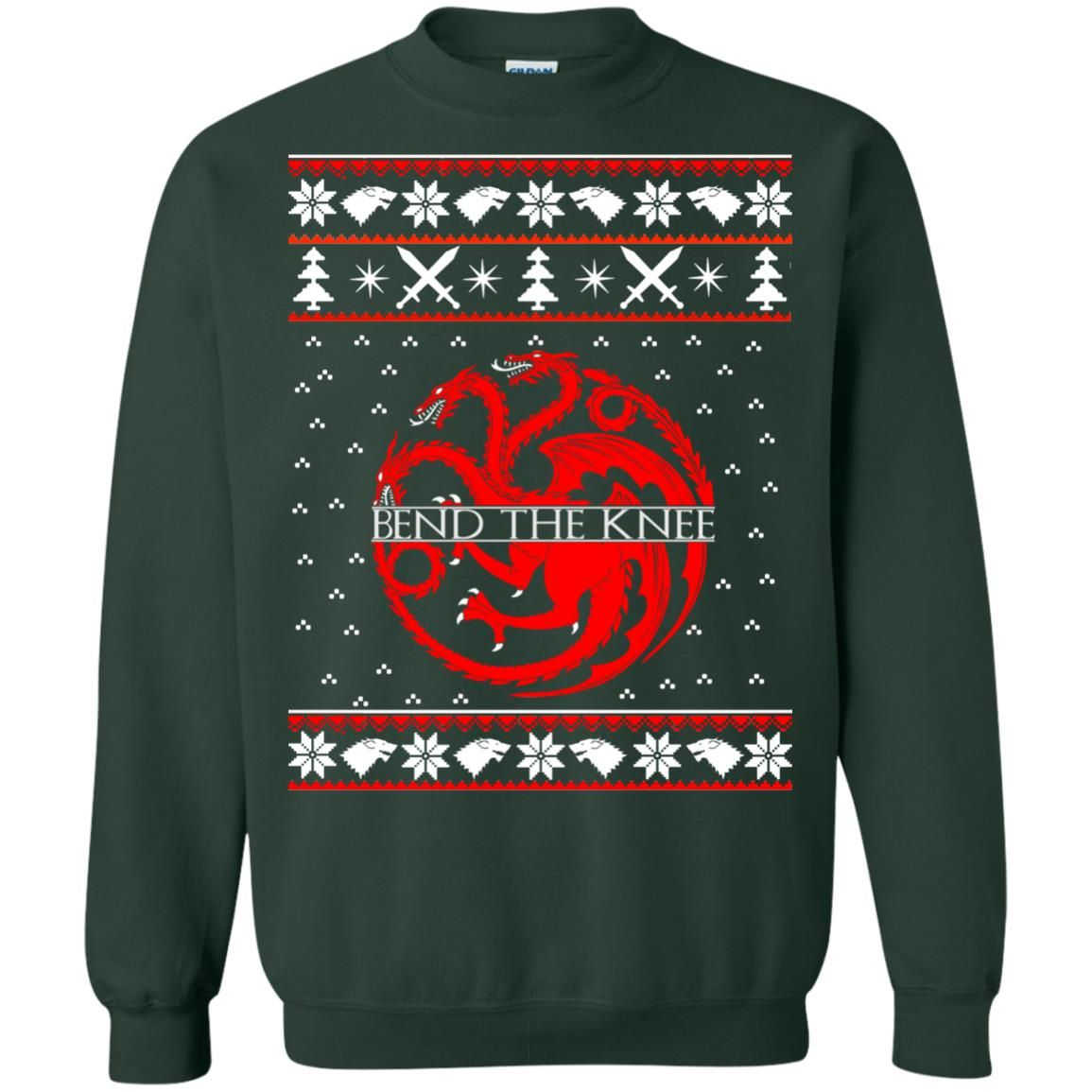 image 871 - Game of Thrones Bend the knee Christmas sweater, long sleeve