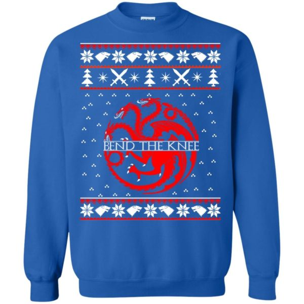 image 872 600x600 - Game of Thrones Bend the knee Christmas sweater, long sleeve