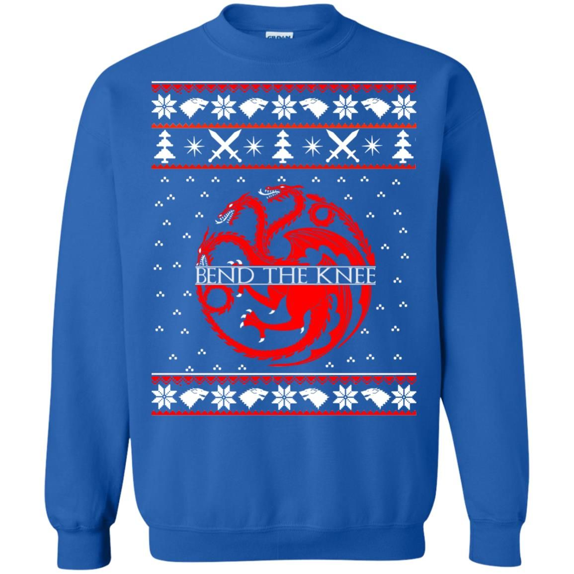 image 872 - Game of Thrones Bend the knee Christmas sweater, long sleeve