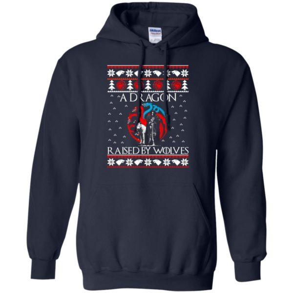 image 879 600x600 - A Dragon raised by Wolves Christmas sweatshirt, hoodie