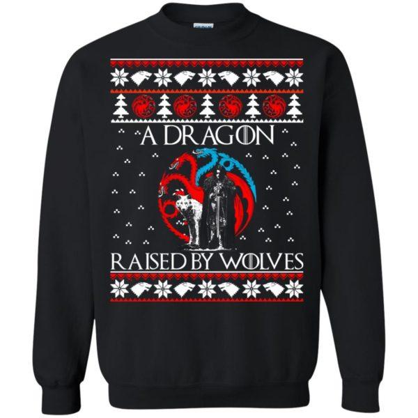 image 880 600x600 - A Dragon raised by Wolves Christmas sweatshirt, hoodie