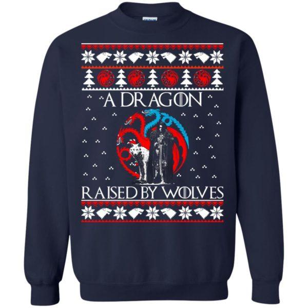 image 881 600x600 - A Dragon raised by Wolves Christmas sweatshirt, hoodie