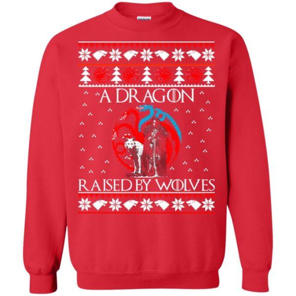image 882 600x600 - A Dragon raised by Wolves Christmas sweatshirt, hoodie