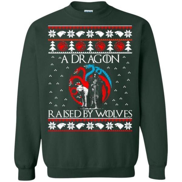 image 883 600x600 - A Dragon raised by Wolves Christmas sweatshirt, hoodie