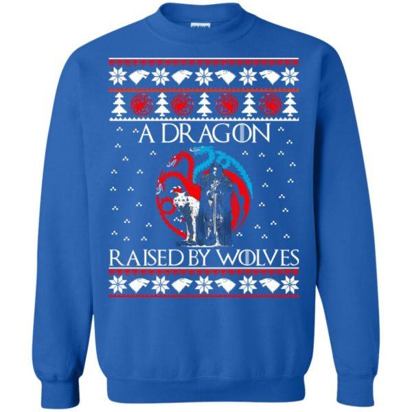 image 884 600x600 - A Dragon raised by Wolves Christmas sweatshirt, hoodie