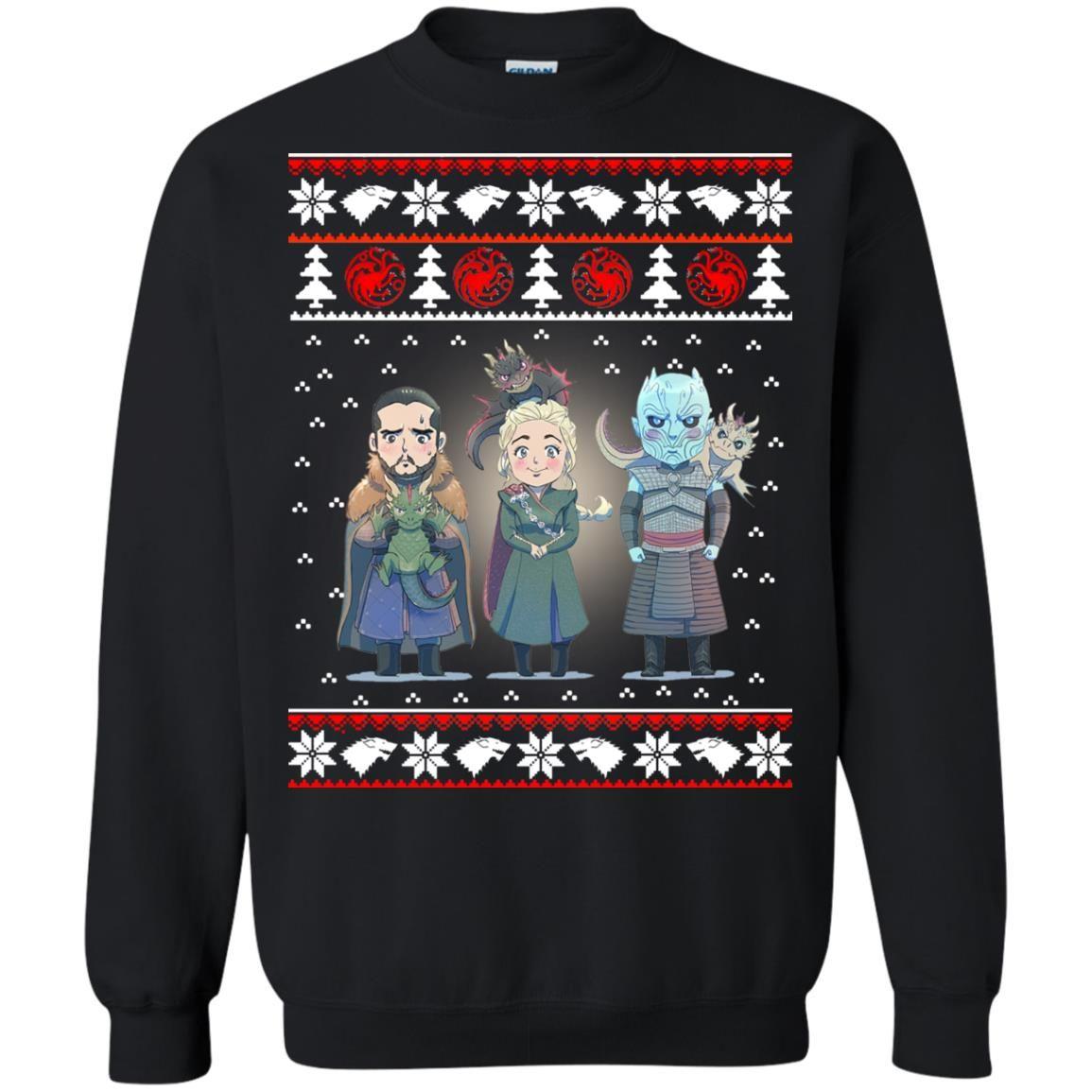 image 919 - Daenerys Targaryen Jon Snow Nigh King Ugly Christmas Sweater