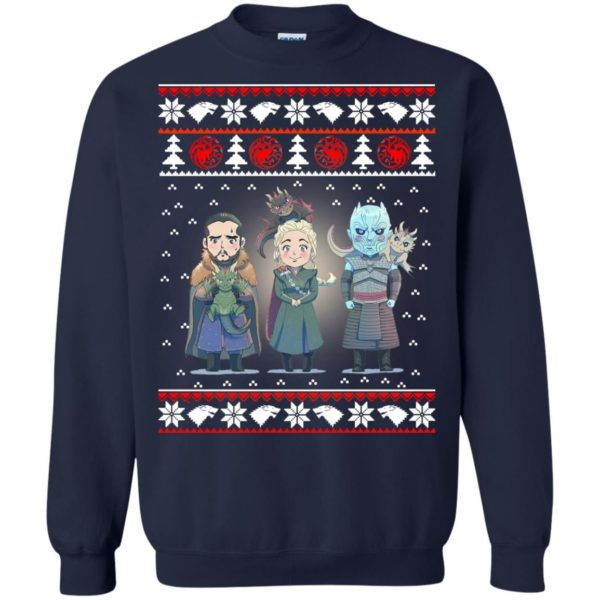 image 921 600x600 - Daenerys Targaryen Jon Snow Nigh King Ugly Christmas Sweater