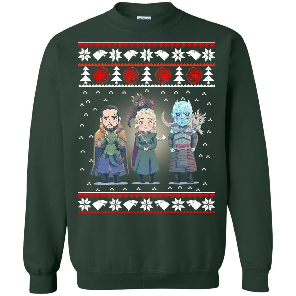 image 925 - Daenerys Targaryen Jon Snow Nigh King Ugly Christmas Sweater