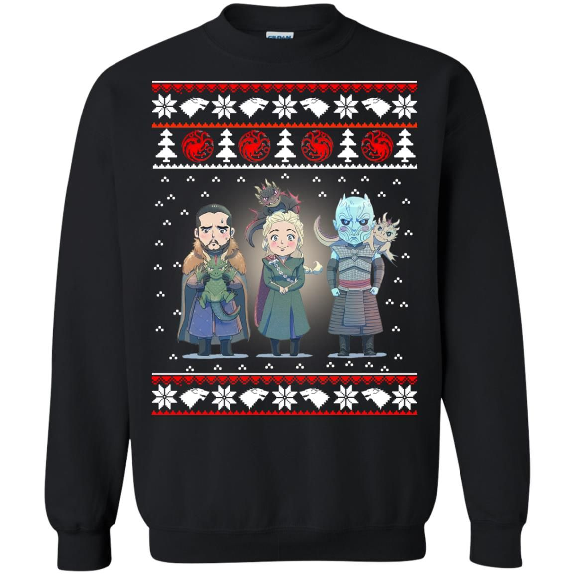 image 926 - Daenerys Targaryen Jon Snow Nigh King Ugly Christmas Sweater