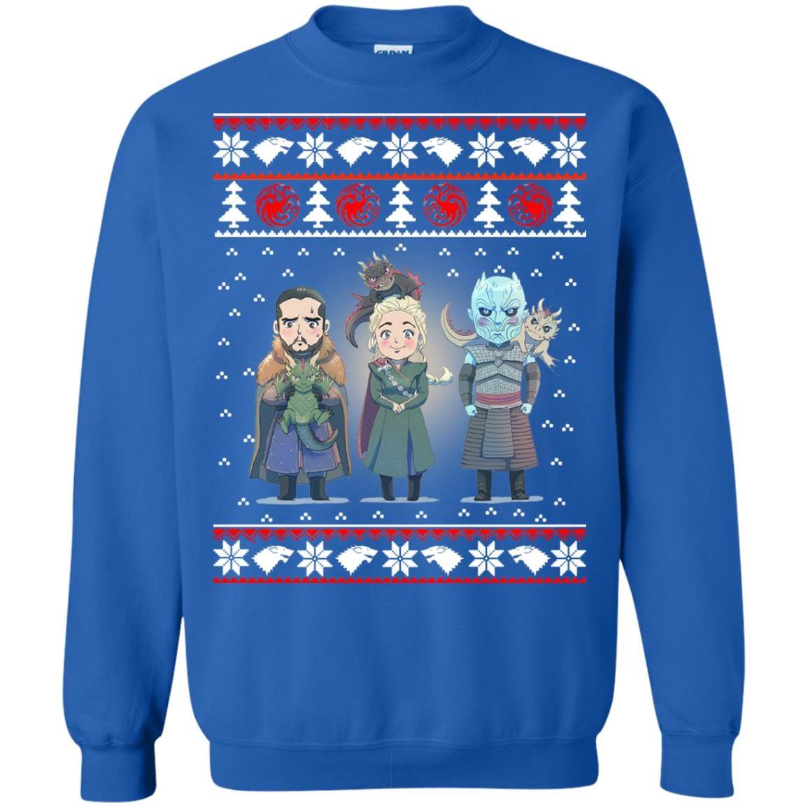 image 927 - Daenerys Targaryen Jon Snow Nigh King Ugly Christmas Sweater