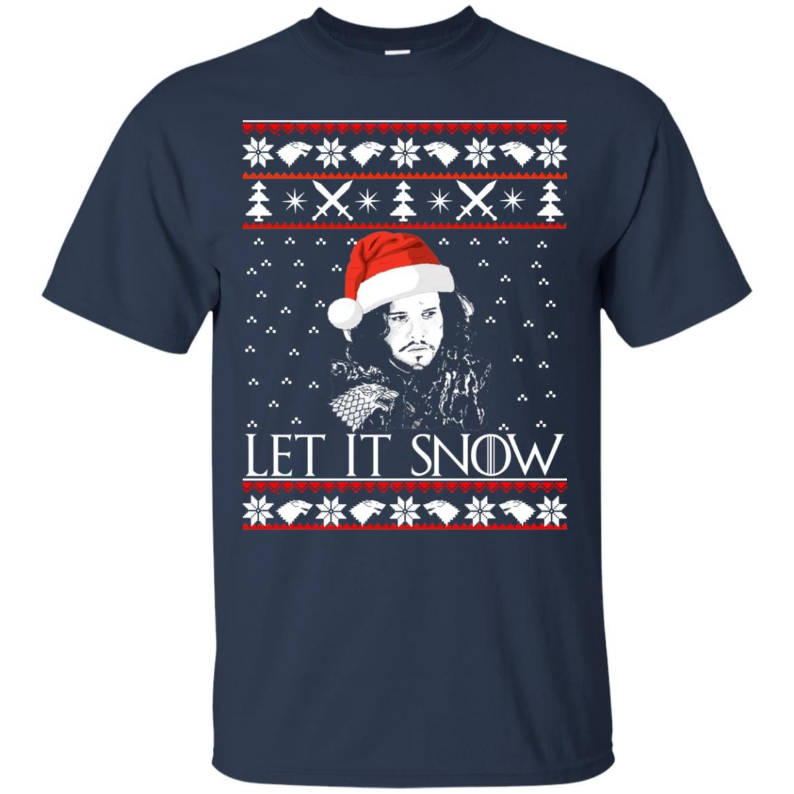 image 935 - Game of Thrones: Jon Snow let it Snow Christmas sweater, long sleeve