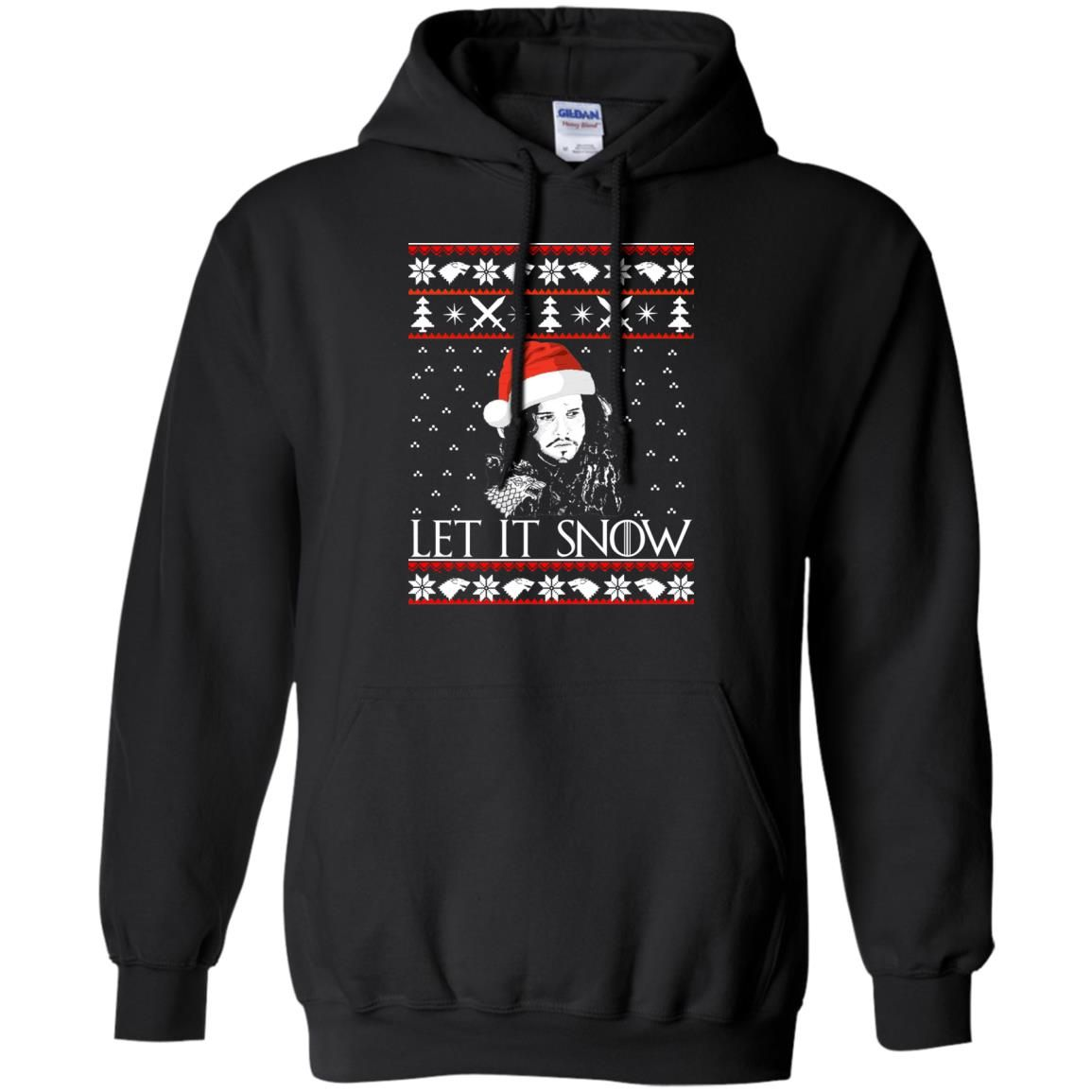 image 938 - Game of Thrones: Jon Snow let it Snow Christmas sweater, long sleeve