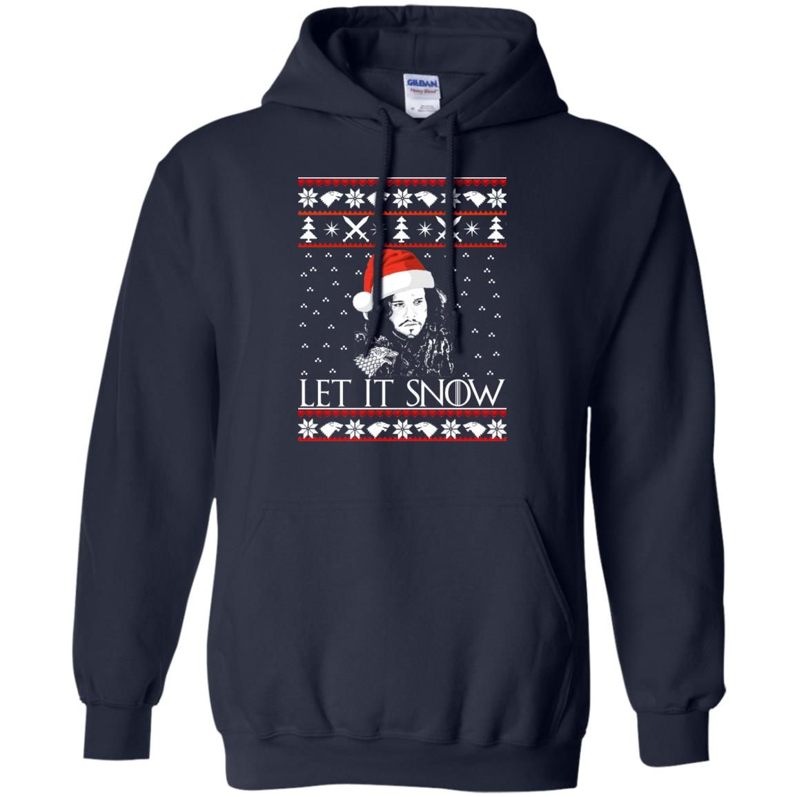 image 939 - Game of Thrones: Jon Snow let it Snow Christmas sweater, long sleeve