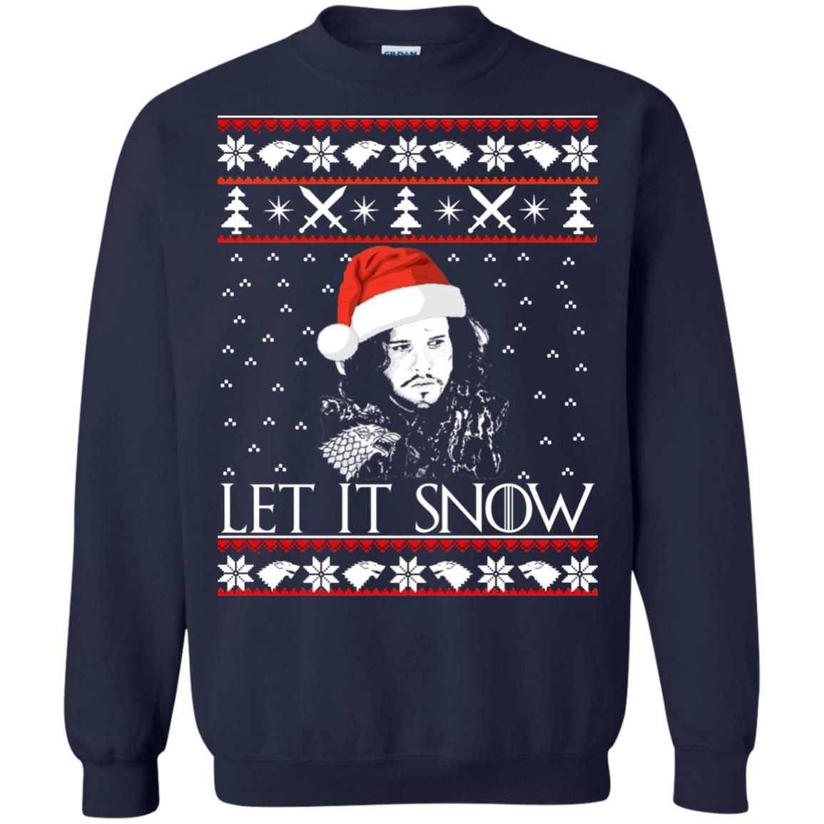 image 941 - Game of Thrones: Jon Snow let it Snow Christmas sweater, long sleeve